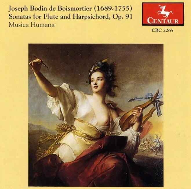 Joseph Bodin De Boismortier Sonatas For Flute And Harpsichord, Op. 91 Musica Humana