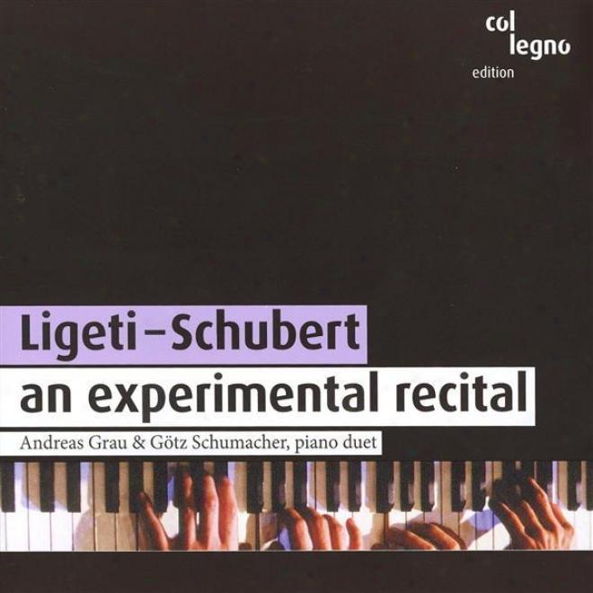Ligeti, G.: 3 Pieces For 2 Pianos / Schuebrt, F.: Fantasy In F Minor / Sonata For Piano 4 Hands In B Flat Major (grau, Scjumacher)