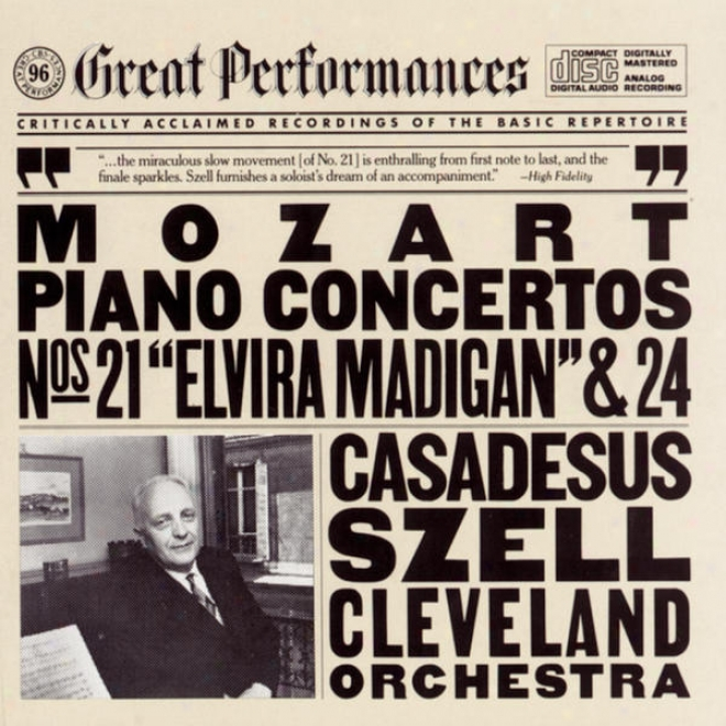 Mozart: Concerto No. 21 In C Major For Piano And Orchestra;  Concerto No. 24 In C Minor For Piano And Orchestra