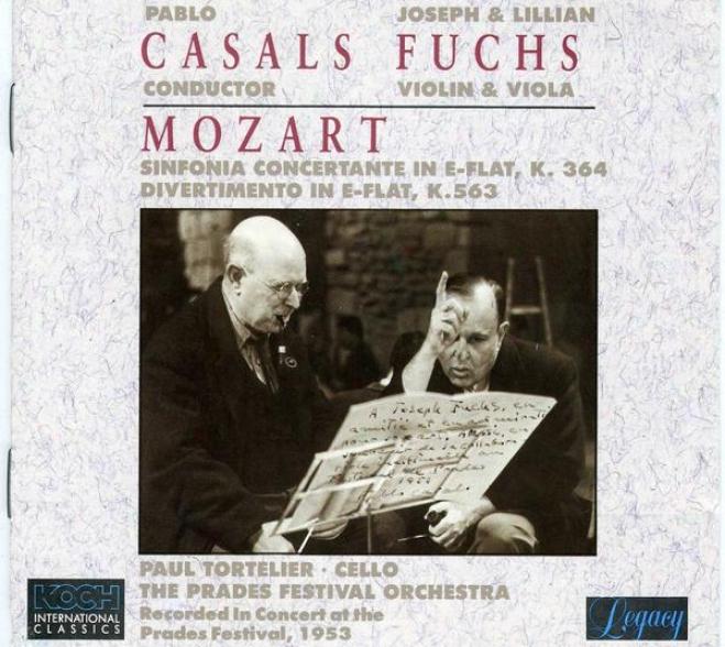 Mozart: Sinfonia Concertante In E-flat, K.364 / Divertimento In E-flat, K.563