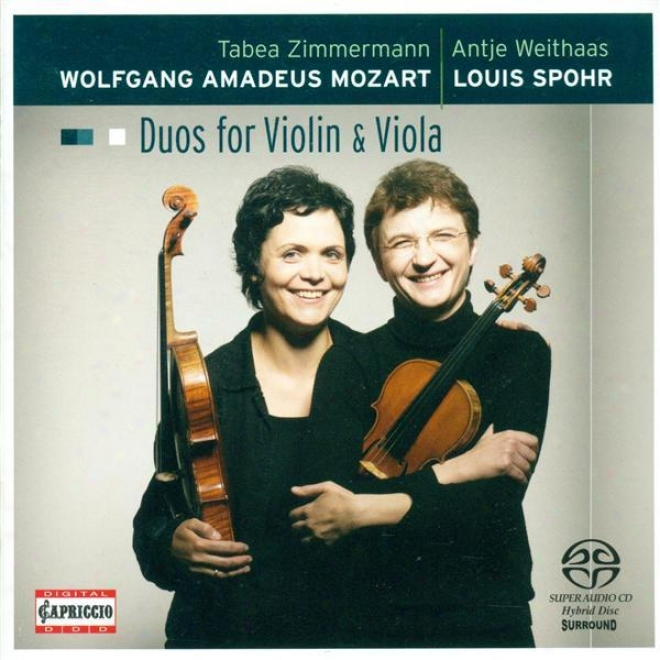 Mozart, W.a.: Duos For Violin And Viola - K. 423, 424 / Spohr, L.: Duo For Violin And Viola, Op 13 (weithaas, Zimmermann)