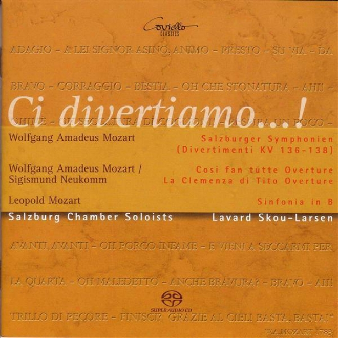 Mozart, W.a.: Salzburg Symphonies Nos. 1-3 / Mozart, L.: Symphony In B Flat Major (salzburg Chamver Soloists, Skou Larsen)