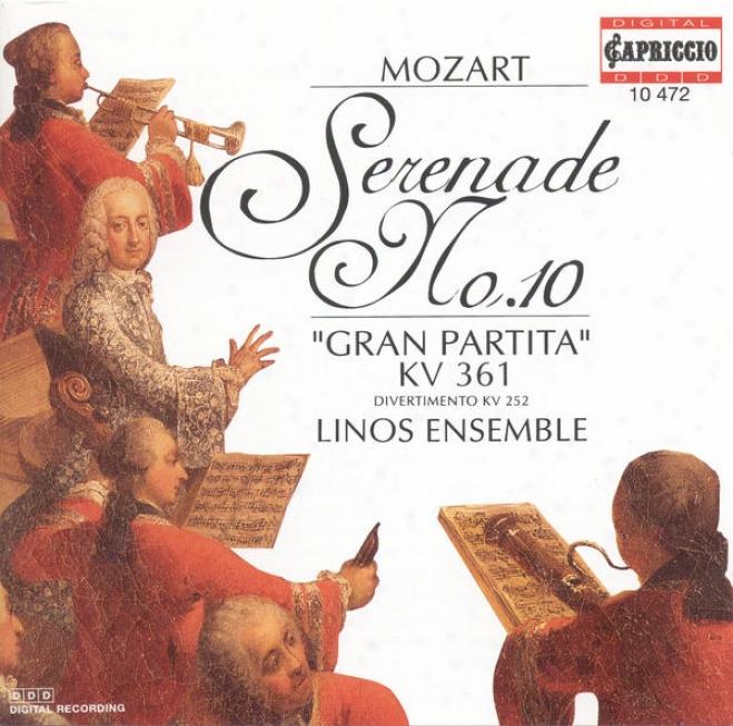 """""""mozart, W.a.: Serenade No. 10, """"""""gran Partita"""""""" / Divertimento In E Flat Major, K. 252 (linos Ensemble)"""""""