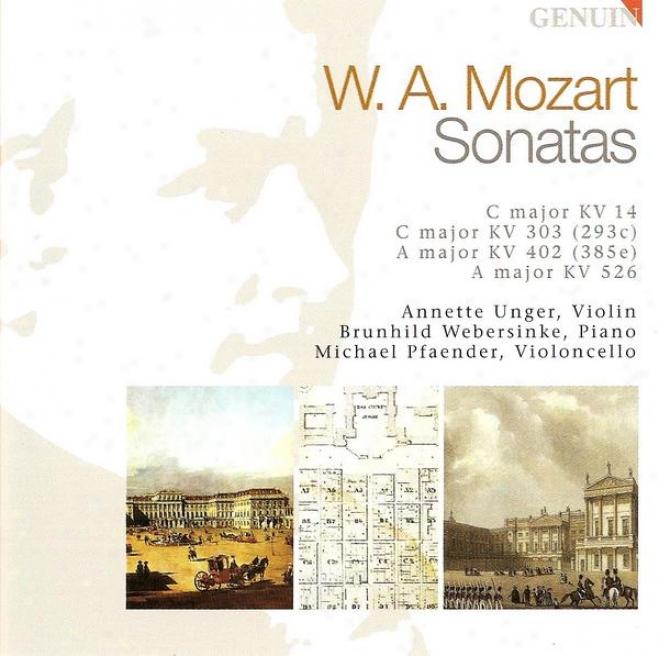 Mozart, W.a:. Sonatas For Keyboard And Violin - K. 303, 402, 526 (unger, Pfaender, Webersinke)