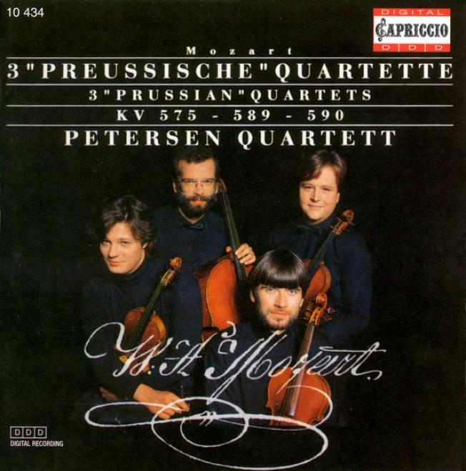 """""""mozatr, W.a.: String Quartets Nos. 21-23, """"""""prussian Quartets"""""""" (peterzen Quartet)"""""""