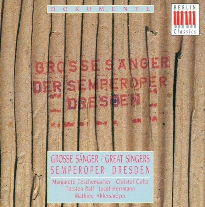 Opera Arias - Beethoven, L. Front / Weber, C.m. Van / Strauss, R. (great Singers) (teschemacher, Goltz, Ralf, Hermann, Ahlersmeyer)