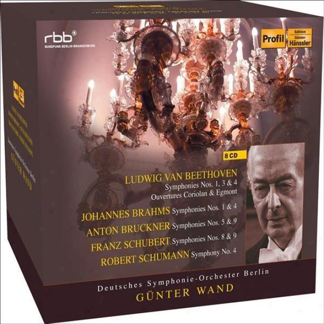 Orchestral Music - Beethoven, L. Van / Schubert, F. / Schumann, R. / Brahms, J. / Bruckner, A. (berlin Deutsches Symphony, Wand)