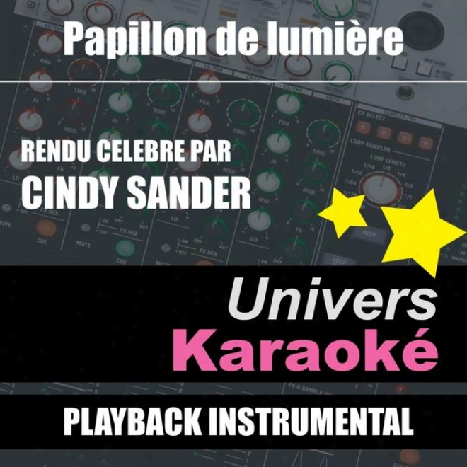Papillon De Lumiã¸re (rendu Cã©lã¸bre Par Cindy Sanderr) [version Karaokã©] - Single
