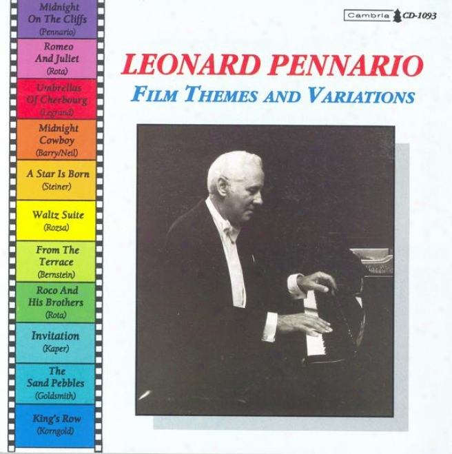 "Piano Recital: Pennario, Leonard �"" Rota, N. / Legrand, M. / Barry, J. / Steiner, M. / Rozsa, M. / Bernstein, E. / Kaper, B. / Gold"