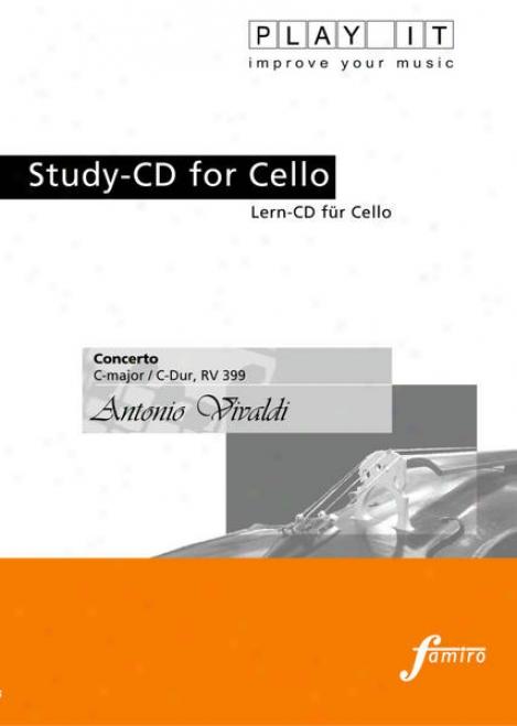 Act  It - Study-cd Fo5 Cello: Antonio Vivaldi, Concerto, C Major / C-dur, Rv 399