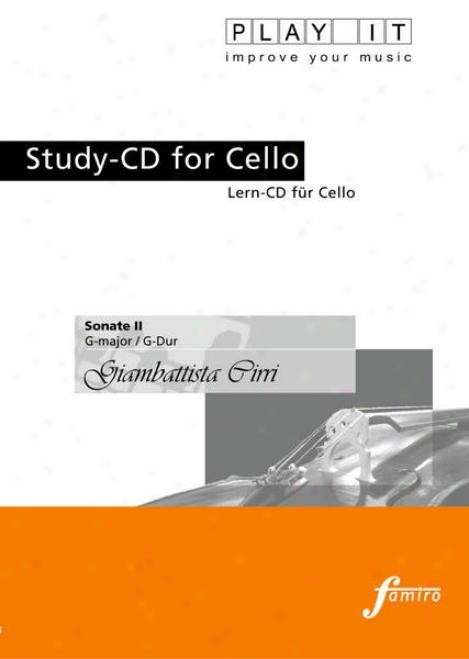 Play It - Study-cd For Celoo: Giambattista Cirri, Sonate Ii, G Major/  G-dur