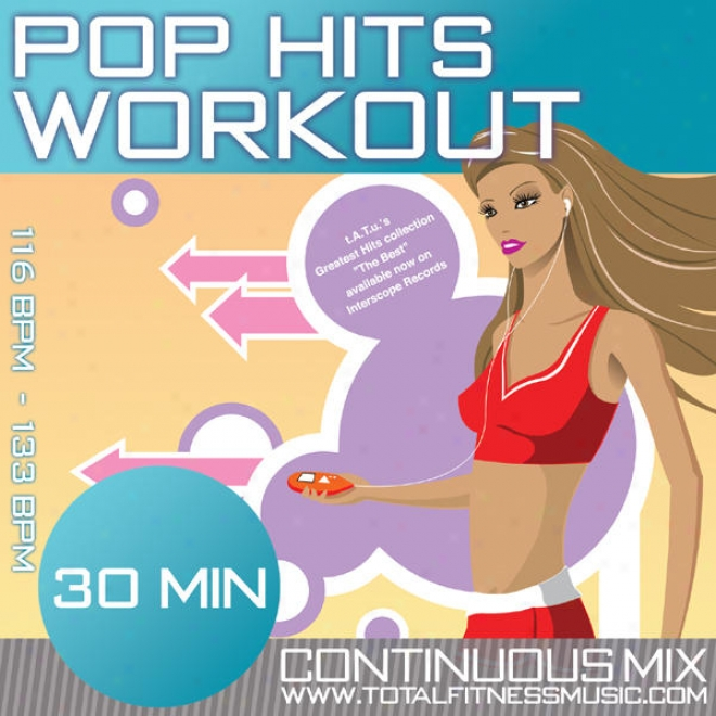 "Pop Hits Workout 30 Minute Continuous Workout Soundtrack 118bpm �"" 134bpm For Jogging, Aerobics, Step, Gym Cycle. Fast Walking, Gym"