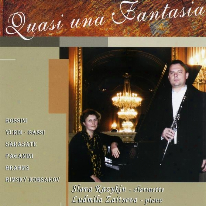 Apparently Una Fantasia (romantic Music Virtuoso Of The Xixe Cebtury For Clarinet And Pianp - Musique Romantique Virtuose Du Xixe Siã¸cl