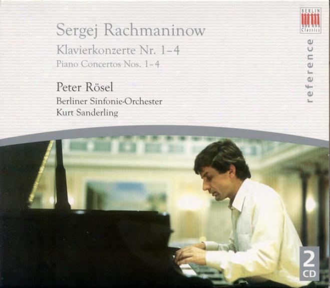 Rachmaninov, S.: Piano Concertos Nos. 1-4 (rosel, Berlin Symphony, K. Sanderling)