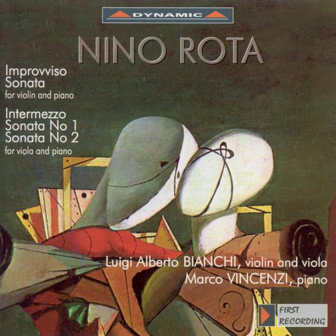Rota, N.: Viola Sonatas Nos. 1 And 2 / Violin Sonata / Improvviso / Infermezzo (bianchi, Vincenzi)