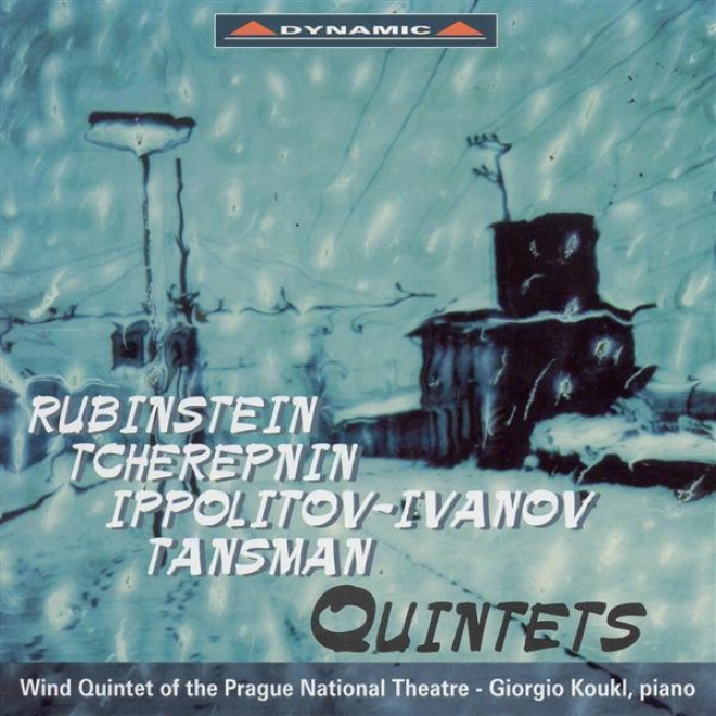 Rubinstein: Quintet For Piano And Winds In F Majr / Tcherepnun: Wind Quintet / Ippolitov-ivanov: An Evening In Georgoa