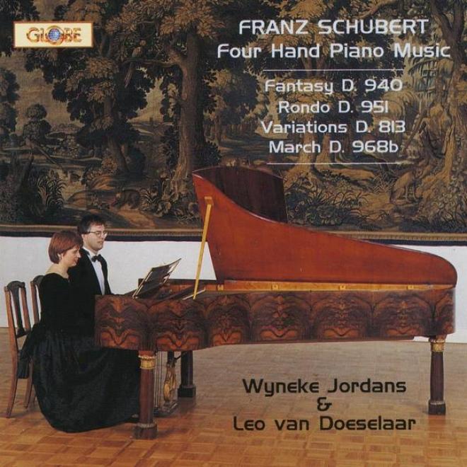 Schubert, Four Hand Piano Melody, Fantasy D 940, Rondo D 951,variations D 813, Progression D 968b