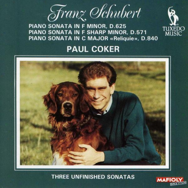 """schubert: Pianoo Sonata In F Minor, D.625; Piano Sonata nI F Sharp Minor, D.571; Piano Sonata In C, D.840, """"the Relic"""