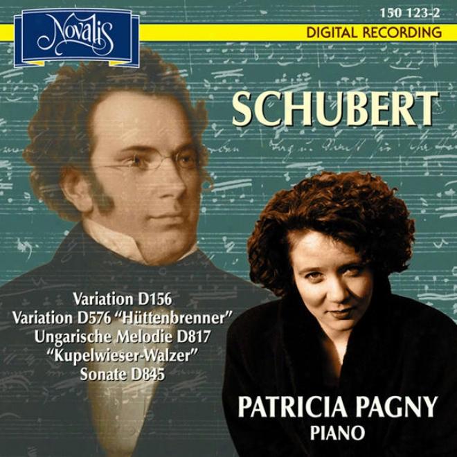 Schubert: Variationen D156, Variationen D576 (hã¼ttenbrenner), Ungarische Melodie D817 (kupelwieser-walzer), Sonate D845