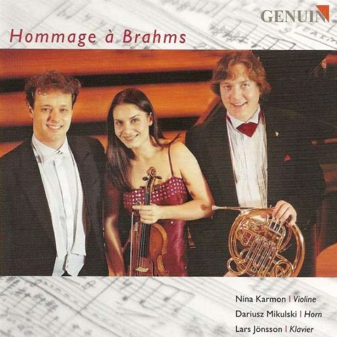Schumann, R.: Adagio And Allegro / Brahms,-J.: Trio Conducive to Violin, Horn And Piano, Op. 40 / Ligeti, G.: Hommage A Brahms (karmon, Mik