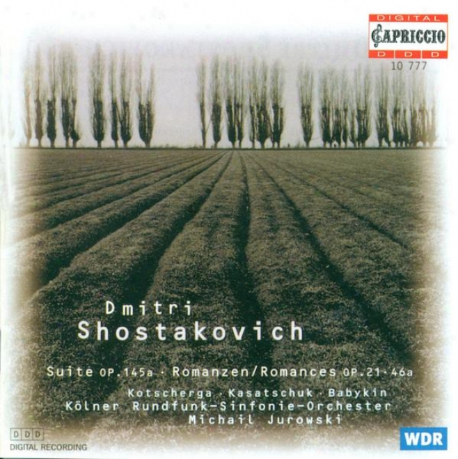 Shostakovich, D.: Suite Forward Words By Michelangelo / Romances - Opp. 21, 46 (kasatschuk)
