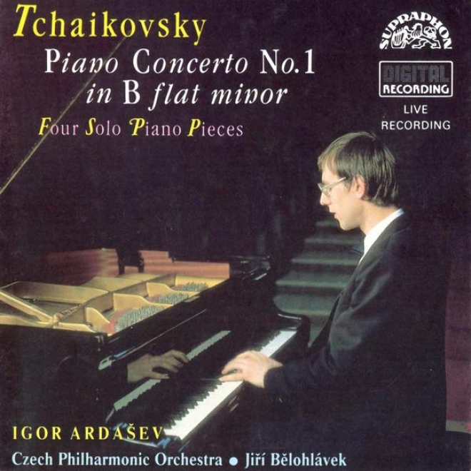 Tchaikovsky : Piano Concerto No. 1, Nocturne, Capriccio, Three Pieces Op.9  Etc./ Ardasev, Czech Po, Belohlavek