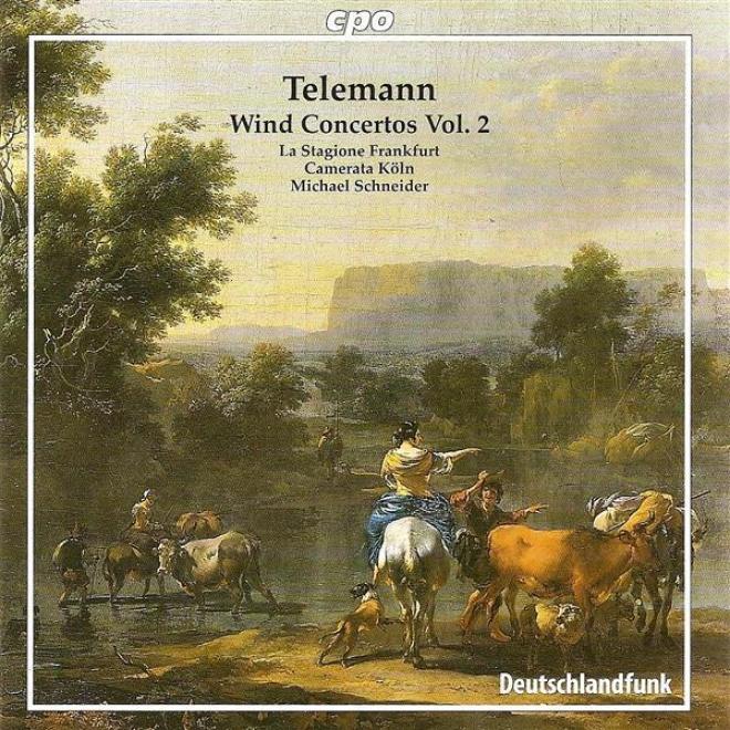 Telemann, G.p.: Wind Concertos, Vol. 2 - Twv 51:f1, 51:g1, 52:c1, 52:d1, 53:d1 (la Stagione Frankfurt, Schneider)