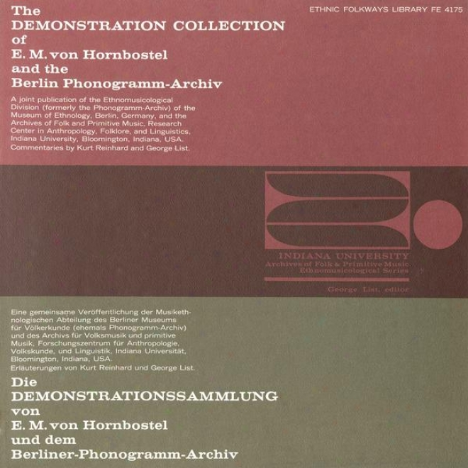 The Demonstration Collection Of E.m. Von Hornbostel And The Berlin Phonogramme-archive