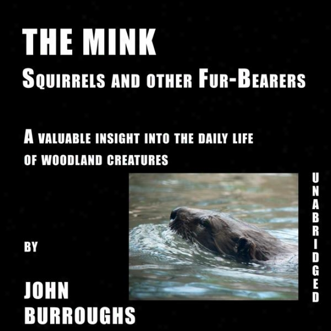 The Mink (unabridged), A Valauble Insight Into The Daily Life Of Woodland Creatures, By John Burroughs