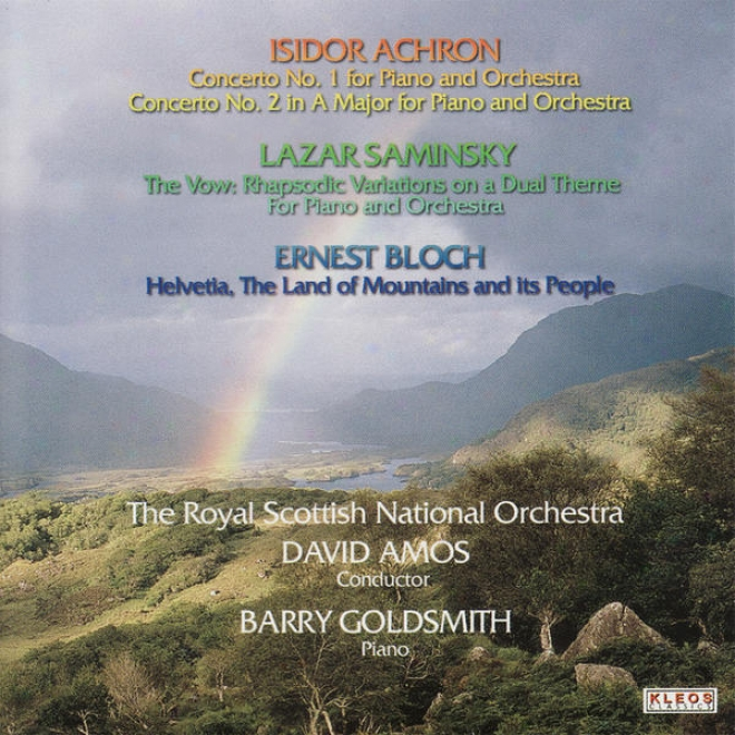 The Magnificent Scottish National Orchestra Performs Works By Achron, Saminksy, And Bloch