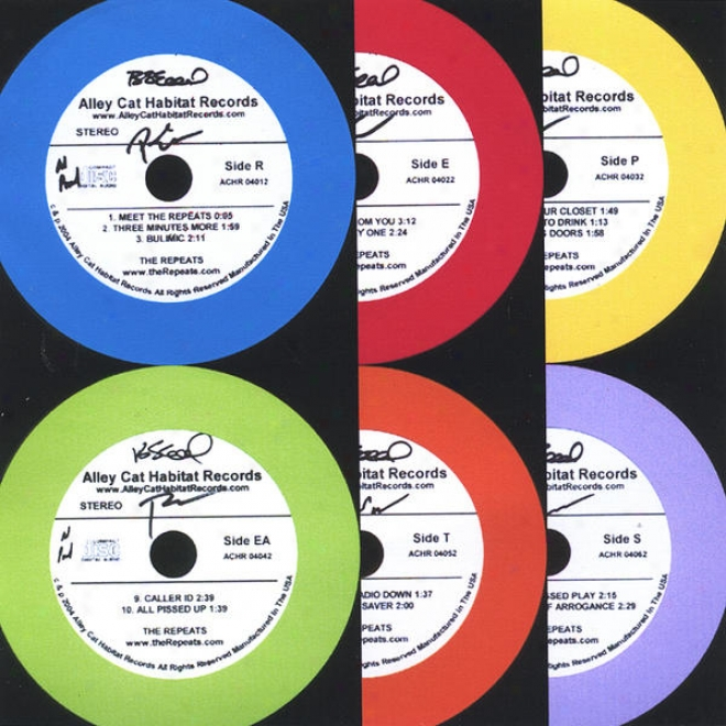 """""""""""""""think Outside The Idiot"""""""" Box Set (all Six) Colored Cds Packaged In Flying Disc. """"""""r"""""""", """"""""e"""""""", """"""""p"""""""", """"""""ea"""""""", """"""""t"""""""" And """"""""s"""""""" 5 Inches."""""""
