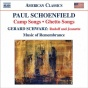 Schoenfield, P.: Camp Songs / Ghetto Songs / Schwarz, G.: Rudlof And Jeanette (niederloh, Parce, Music Of Remembrance)