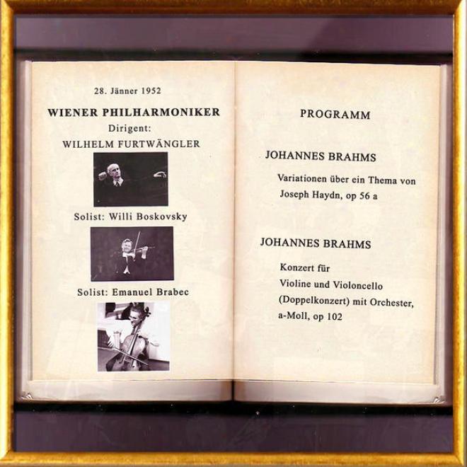 Vienna Philharmonic Orchestra / Wiener Philharmoniker - Joseph Haydn: Variationen über Ein Thema, Op. 56a; Johannes Brahms: Dopp
