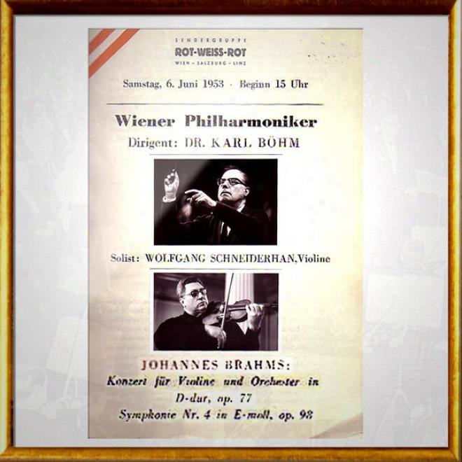 Vienna Philharmonic Orchestra - Wiener Philharmoniker: Brahms Violinkonzert D Op. 77