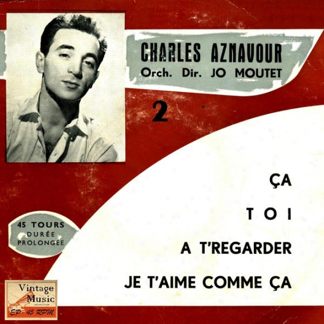 """vintage French Song N⺠29 - Eps Collectors """"charles Aznavour And Jo Moutet"""