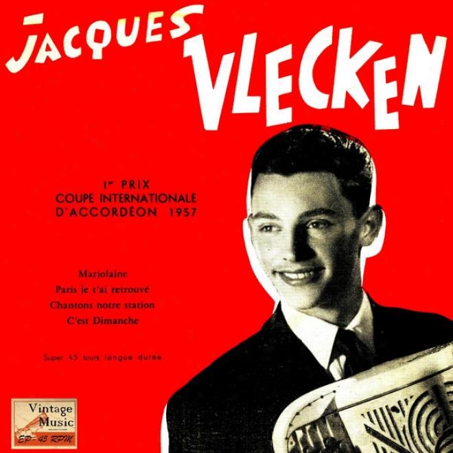 """""""vintage French Song N⺠56 - Eps Collectors """"""""couple International Accodrion"""""""" """"""""paris Je T'ai Retrouvã©"""""""