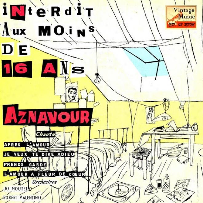 """""""vintage French Song N⺠60 - Eps Collectors, """"""""interdit Aux Moins De 16 Ans"""""""