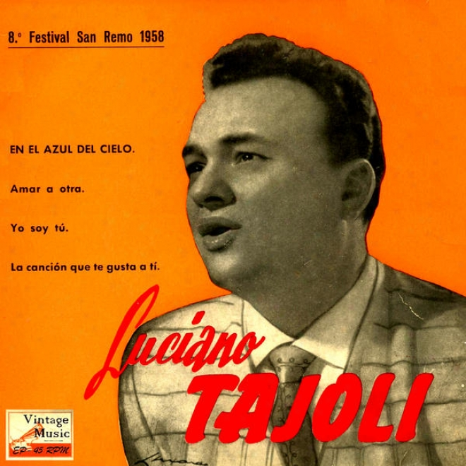 """vintage Italian Song N⺠15 - Eps Collectors """"8⺠Festival San Remo 1958"""
