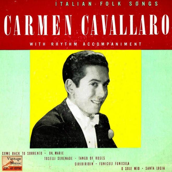 """vintage Jazz N⺠33 - Eps Collectors """"italian Folk Songs"""" """"piano Serenade"""