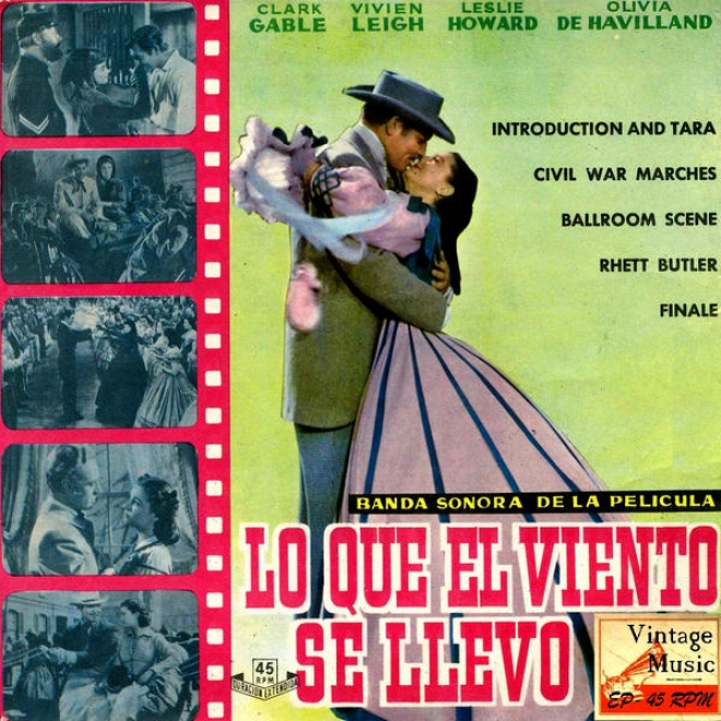 """vintage Movies Nâº2 - Eps Collectors """"gone With The Wind"""" """"lo Que El Viento Se Llevã³"""