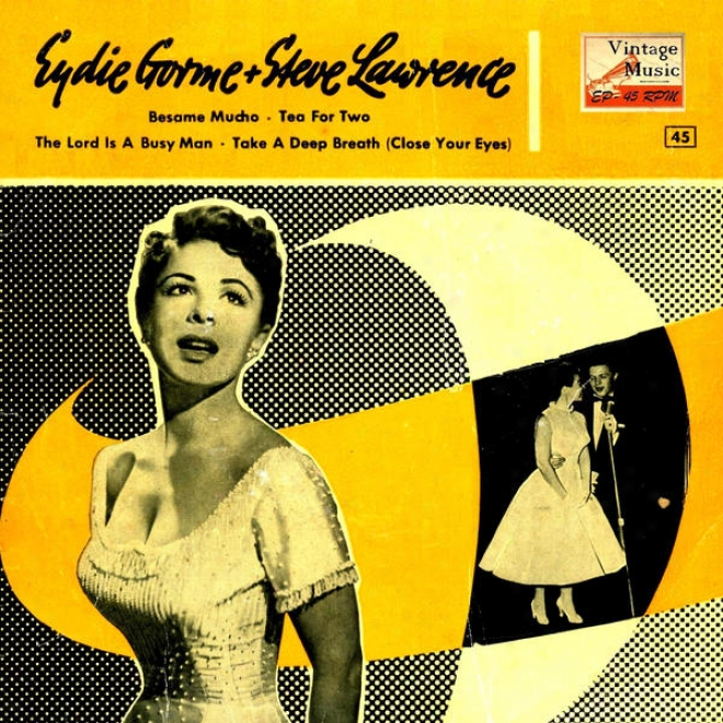 """""""vintage Vocal Jazz / Swing N⺠33 - Eps Collectors """"""""bã©same Mucho, Tea For Two"""""""