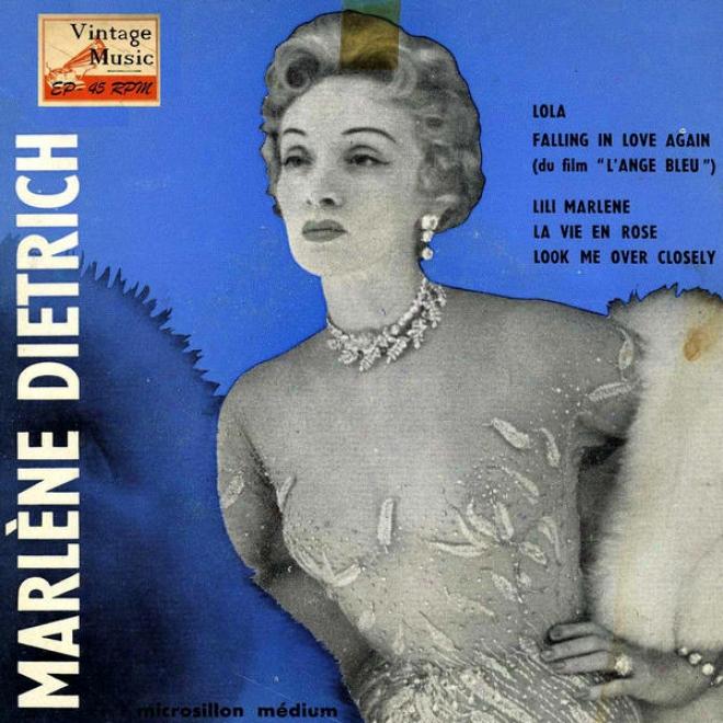 """""""vintage Vocal Jazz / Swing Nâº19 - Eps Collectors """"""""marlã©ne Dietrich At Cafã© De Paris"""""""