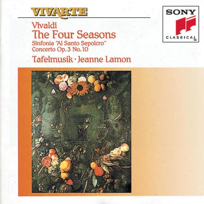 """""""vivaldi: The Four Seasons; Sinfonia """"""""al Santo Sepolcro""""""""; Concerto Op.3, No.10"""""""