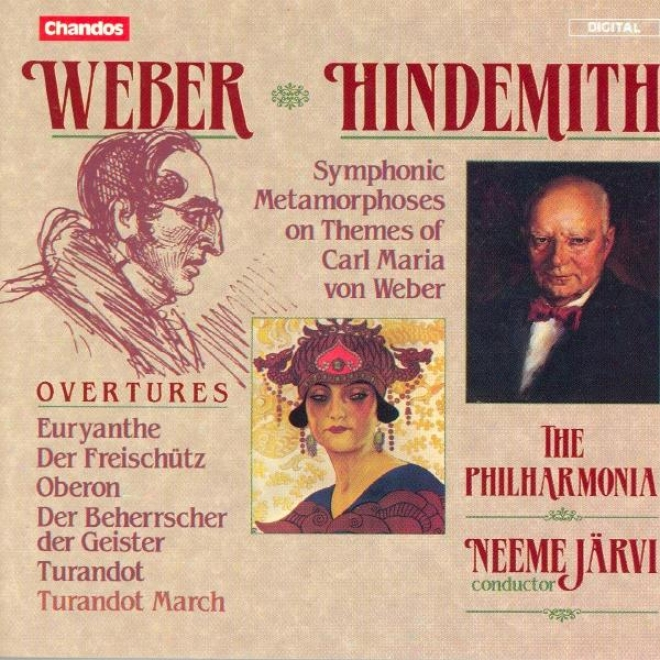 Weber: Overtures / Hindemith: Symphonic Metamorphosis On Themes Of Carl Maria Von Weber