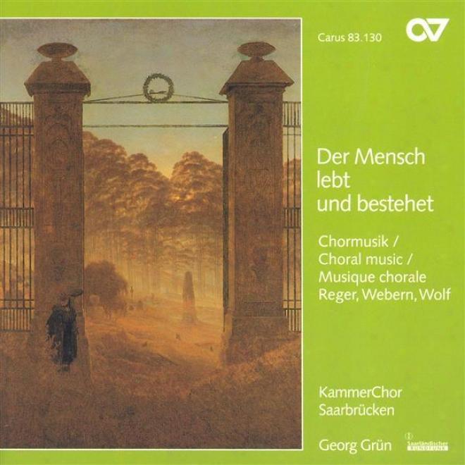 Wolf, H.: 6 Geistliche Lieder / Reger, M.: 8 Geistliche Gesange / Webern, A.: Entflieht Auf Leichten Kahnen (saarvrucken hCamber C