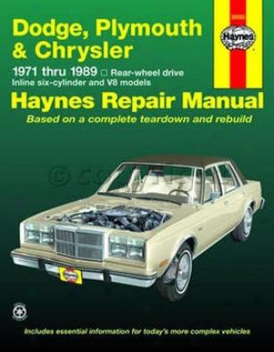 1977-1981 Chrysler Lebaron Repair Manual Haynes Chrysler Repair Manual 30050 77 78 79 80 81