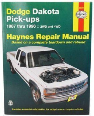 1987-1996 Dodge Dakota Repair Manual Haynes Dodge Repair Manuall 30020 87 88 89 90 91 92 93 94 95 96