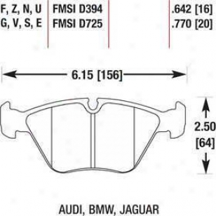 1989-1995 Bmw 525i Brake Pad Set Hawk Bmw Brake Pad Set Hb135z.770 89 90 91 92 93 94 95