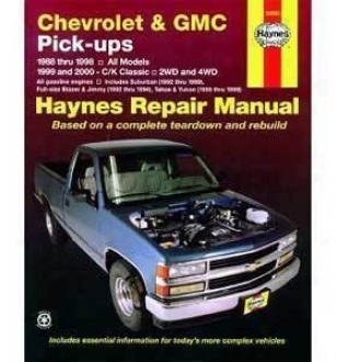 1992-1994 Chevrolet Blazer Repair Manual Haynes Chevrolet Repair Manual 24065 92 93 94