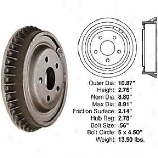 1993-2003 Buick Century Brake Drum Centic Buick Brake Drum 122.62023 93 94 95 96 97 98 99 00 01 02 03